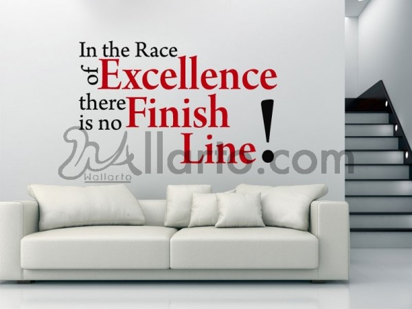 In the race of excellence