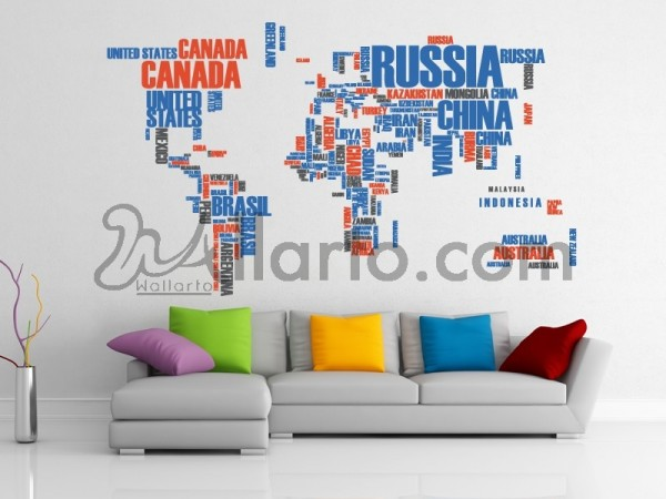 Dubai wall mural wall decals wall stickers and canvas by wallarto world map with country names gumiabroncs Images